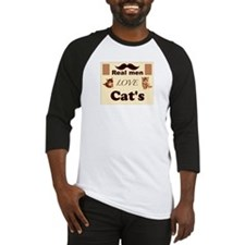 Real men love cats Baseball Jersey