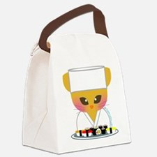 sushi chef cat.png Canvas Lunch Bag