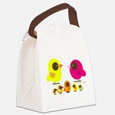 bird family 5 kids.png Canvas Lunch Bag