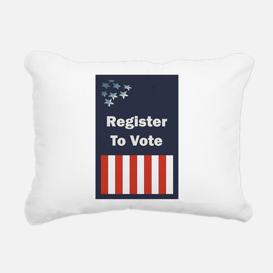 Register to Vote Rectangular Canvas Pillow