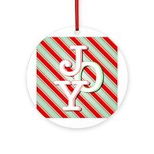 JOY on stripes Ornament (Round)
