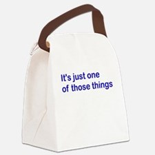 justone_blue.png Canvas Lunch Bag
