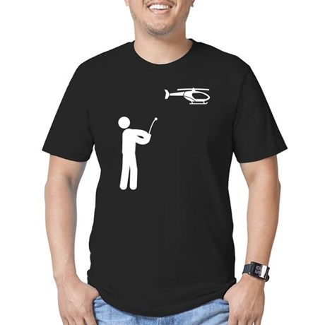 RC Helicopter Men's Fitted T-Shirt (dark)