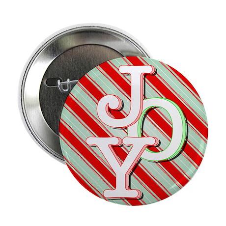 """JOY on stripes 2.25"""" Button"""