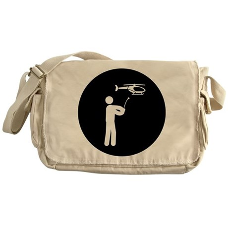 RC Helicopter Messenger Bag