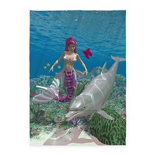 Beauty Mermaid 5'x7'Area Rug