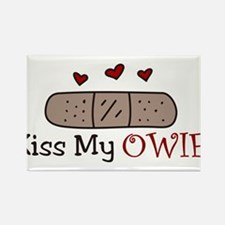 Kiss My Owie Rectangle Magnet