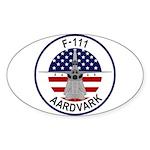 F-111 Aardvark Sticker (Oval 10 pk)