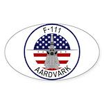 F-111 Aardvark Sticker (Oval 50 pk)