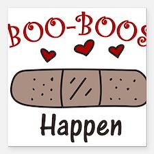 """Boo Boos Happen Square Car Magnet 3"""" x 3"""""""