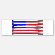 Patriotic USA Drumstick Flag Drum Bumper Bumper Bumper Sticker