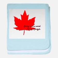 #canadianlife baby blanket
