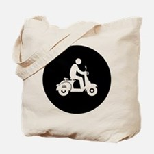 Scooter Rider Tote Bag