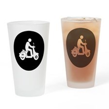 Scooter Rider Drinking Glass