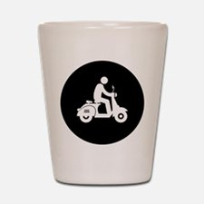 Scooter Rider Shot Glass
