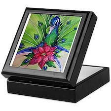 Peacock Christmas Keepsake Box