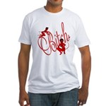 Bitch She Devil Toon Fitted T-Shirt