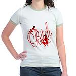 Bitch She Devil Toon Jr. Ringer T-Shirt