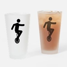 Unicycle Rider Drinking Glass