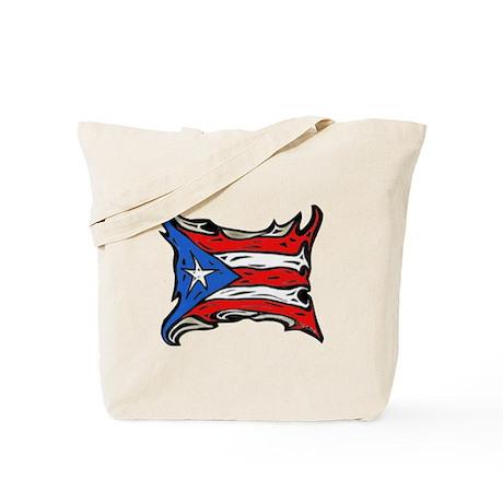 Puerto Rico Heat Flag Tote Bag