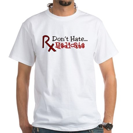 Medicate White T-Shirt
