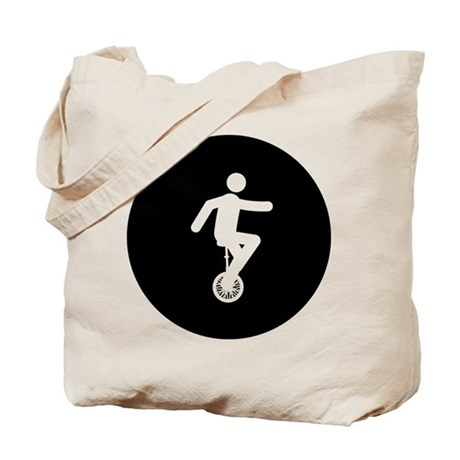 Unicycle Rider Tote Bag