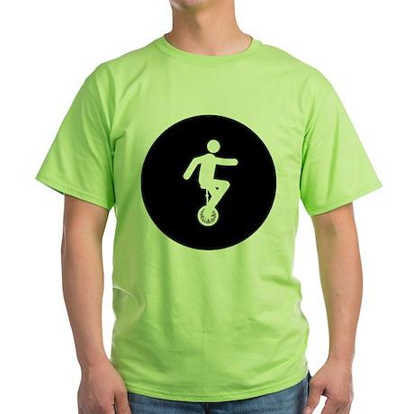 Unicycle Rider Green T-Shirt