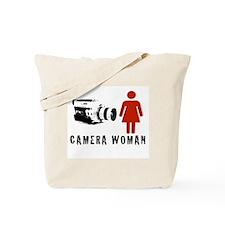 """Camera Woman"" Tote Bag by TJP"