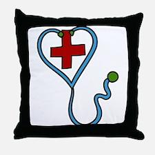 Stethoscope Throw Pillow