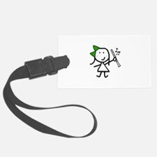 Girl & Clarinet - Green Luggage Tag