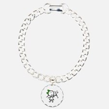 Girl & Clarinet - Green Bracelet