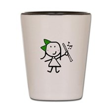 Girl & Clarinet - Green Shot Glass