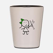 Girl & Clarinet - Green Shot Glass