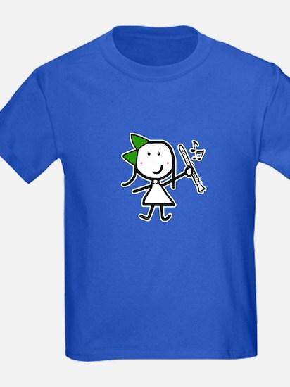 Girl & Clarinet - Green T