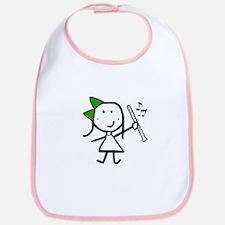 Girl & Clarinet - Green Bib