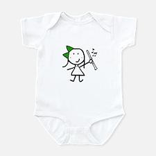 Girl & Clarinet - Green Infant Bodysuit