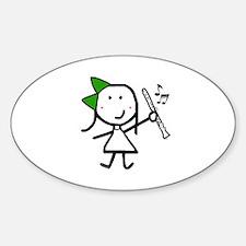 Girl & Clarinet - Green Decal