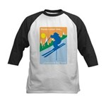 Having A Great Time Kids Baseball Jersey