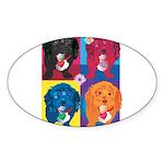 KIMSHOP.png Sticker (Oval)