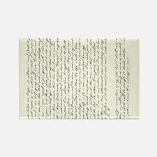 Jane Austen Persuasion Letter Rectangle Magnet