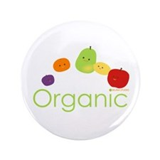 "Organic Fruits 2 3.5"" Button"