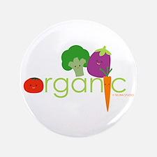 """Organic Veggies"" 3.5"" Button"
