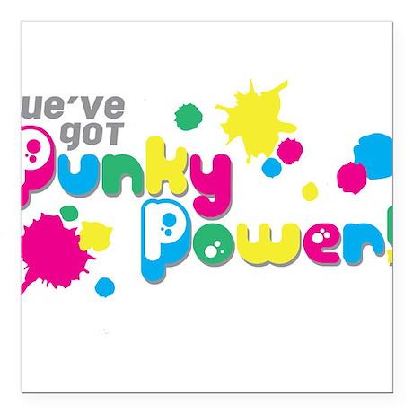 "Punky Power Square Car Magnet 3"" x 3"""