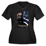 League Hero Women's Plus Size V-Neck Dark T-Shirt