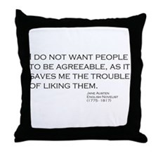 Cute Austen Throw Pillow