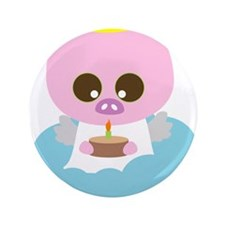 """pig angel2.png 3.5"""" Button"""