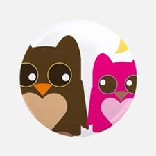 """owl-couple2.png 3.5"""" Button"""