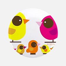 "bird family 5 kids.png 3.5"" Button"