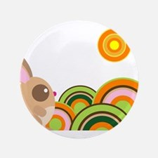"""WoodLand bunny.png 3.5"""" Button"""