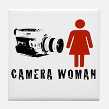 """Camera Woman"" Tile Coaster by TJP"